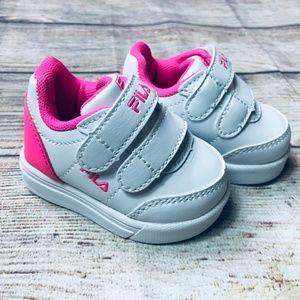 NWOT Baby Girl pink/white Fila sneakers